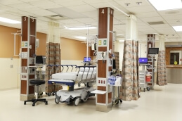 Newly remodeled post anesthesia care unit (PACU)
